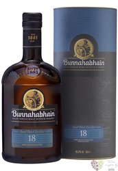 Bunnahabhain 18 years old single malt Islay whisky 46.3% vol.   0.70 l