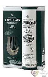 Laphroaig 10 years old 2glass pack single malt Islay whisky 40% vol.    0.70 l