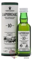 Laphroaig 10 years old single malt Islay whisky 40% vol.  0.05 l
