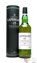 Laphroaig 15 years old single malt Islay whisky 43% vol.  0.70 l