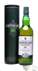 Laphroaig 18 years old single malt Islay whisky 48% vol.  0.70 l