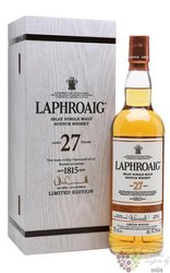 Laphroaig 2017 aged 27 years single malt Islay whisky 41.7 vol.  0.70 l