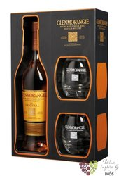 "Glenmorangie "" Original "" aged 10 years 2glass pack Scotch whisky 40% vol.     0.70 l"