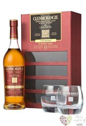 "Glenmorangie "" Lasanta "" 2glass pack aged 12 years Highland whisky 46% vol.0.70l"