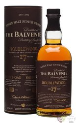 "Balvenie "" DoubleWood "" aged 17 years Speyside single malt whisky 43% vol.    0.70 l"