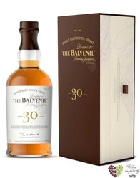 Balvenie 30 years old Speyside single malt whisky 47.3% vol.  0.70 l