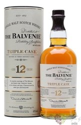 "Balvenie "" Triple cask expressions "" aged 12 years Speyside single malt whisky 43% vol.  1.00 l"