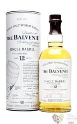 "Balvenie "" Single barrel first fill "" aged 12 years Speyside single malt whisky47.8% vol.  0.70 l"
