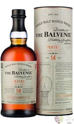 "Balvenie "" Peated - Triple cask "" aged 14 years Speyside single malt whisky 48.3% vol.  0.70 l"