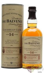 "Balvenie "" Caribbean cask "" aged 14 years Speyside whisky 43% vol.  0.70 l"