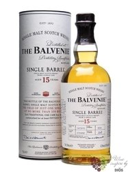 "Balvenie "" Single barrel "" aged 15 years Speyside single malt whisky 47.8% vol.0.70 l"