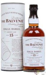 "Balvenie "" Single barrel "" aged 15 years Speyside single malt whisky 47.8% vol.  0.70 l"