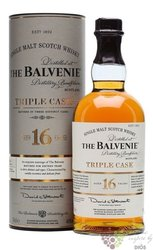 "Balvenie "" Triple cask "" aged 16 years Speyside single malt whisky 40% vol.  0.70 l"