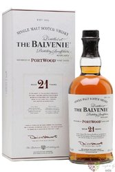 "Balvenie "" Port wood "" aged 21 years Speyside Single malt whisky 40% vol.  0.70l"