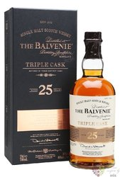 "Balvenie "" Triple cask "" aged 25 years Speyside single malt whisky 40% vol.  0.70 l"