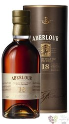 Aberlour 18 years old single malt Speyside Scotch whisky 43% vol.  0.70 l