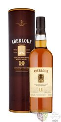 Aberlour 10 years old glass gift tube single malt Speyside whisky 40% vol.   1.00 l