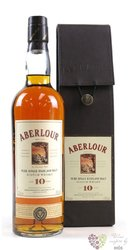 Aberlour 10 years old leather pack single malt Speyside whisky 43% vol.  0.70 l