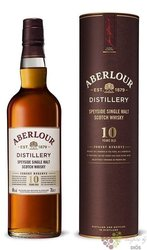 "Aberlour "" Forest Reserve "" 10 years old single malt Speyside whisky 40% vol.  0.70 l"