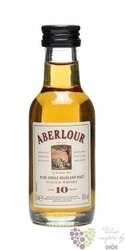 Aberlour 10 years old single malt Speyside whisky 43% vol.   0.05 l