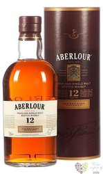 "Aberlour "" Sherry cask "" aged 12 years single malt Speyside whisky 40% vol.   1.00 l"