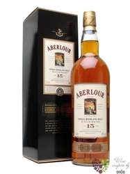"Aberlour "" Double cask matured "" aged 15 years Single Speyside whisky 40% vol. 1.00 l"
