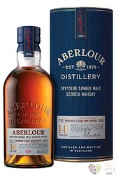 """Aberlour """" Double cask batch 0001 """" aged 14 years Speyside whisky 40% vol.  0.70 l"""