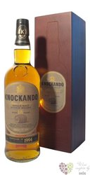 "Knockando 1994 "" Slow matured "" aged 18 years wood box single malt Speyside whisky 43% vol.   0.70 l"