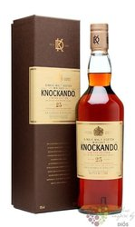 Knockando aged 25 years ltd. Speyside whisky 43% vol.  0.70 l