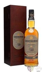 "Knockando 1992 "" Slow matured "" aged 18 years wood box single malt Speyside whisky 43% vol.   0.70 l"