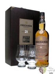"Knockando 1991 "" Slow matured "" aged 18 years 2glass wood pack Speyside whisky 43% vol. 0.70 l"