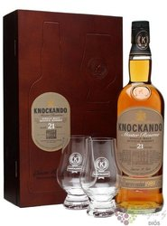 Knockando Master reserve 1989 aged 21 years luxury glass set Speyside whisky 43% vol.  0.70 l