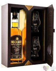 Knockando Master reserve 1997 aged 21 years glass set Speyside whisky 43% vol.0.70 l