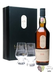 Lagavulin 16 years old 2glass pack single malt Islay whisky 43% vol.   0.70 l