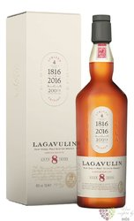 "Lagavulin "" 200 th anniversary "" aged 8 years Islay whisky 48% vol.   0.70 l"