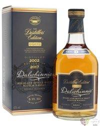 "Dalwhinnie 2002 "" Distillers edition "" bott.2017 single malt Highland whisky 43% vol.  0.70 l"