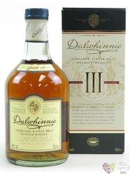 "Dalwhinnie "" III Triple matured "" single malt Highland whisky 48% vol.  0.70 l"