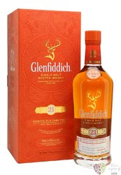 "Glenfiddich "" Gran Reserva rum cask finish "" aged 21 years malt Speyside whisky40% vol.    0.70 l"