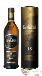 "Glenfiddich "" Ancient reserve "" aged 18 years single malt Speyside whisky 43% vol.   1.00 l"