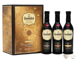 "Glenfiddich Age of Discovery "" Collection "" aged 19 years Speyside whisky 40%vol.  3x0.20 l"