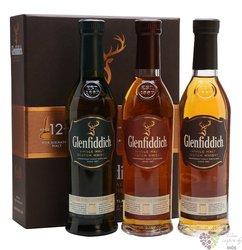 "Glenfiddich "" Malt collection12&15&18 "" single malt Speyside whisky     3 x 0.20 l"