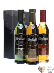 Glenfiddich 12-18+sklo     3x0.20l
