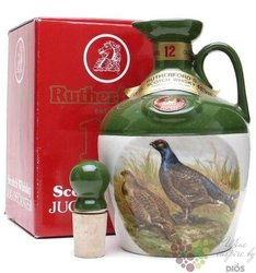 "Rutherfords "" Gamebird Decanter "" aged 12 years premium Scotch whisky 40% vol.0.70 l"