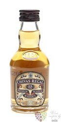 Chivas Regal 12 years old premium blended Scotch whisky 40% vol.    0.05 l