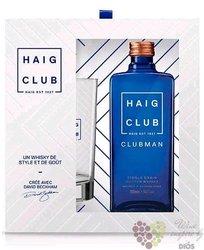 "Haig "" Club Clubman "" gift set single grain Scotch whisky 40% vol.  0.70 l"