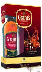"Grant´s Triple wood "" Stand fast "" glass set blended Scotch whisky 40% vol.  0.70 l"