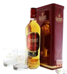 "Grant´s "" Family Reserve "" 2 glass metal box pack finest Scotch whisky 40% vol.0.70 l"