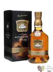 Cutty Sark 18 years old premium blended Scotch whisky by Berry Bros & Rudd 43% vol.    0.70 l