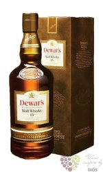 "Dewar´s "" Blended Highland malt "" aged 15 years premium Scotch whisky 40% vol. 0.70 l"