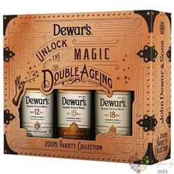 "Dewar´s "" Variation Collection "" set of 12&15&18 years old premium Scotch whisky  3x0.20 l"